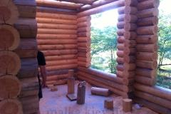 Панарамное окно в деревянном доме