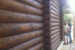 Стена дома из бруса
