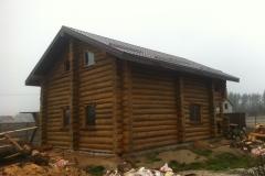 Торец деревянного дома