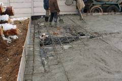 Подготовка, залитие бетона