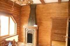 Деревянный камин