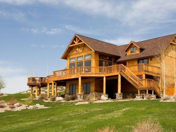 Деревянный дом отдыха