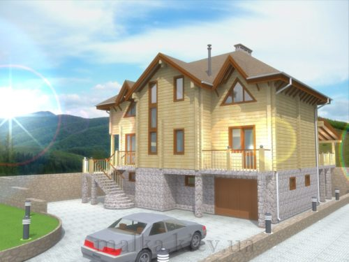 Проект жилого дома №16 (с парилкой)