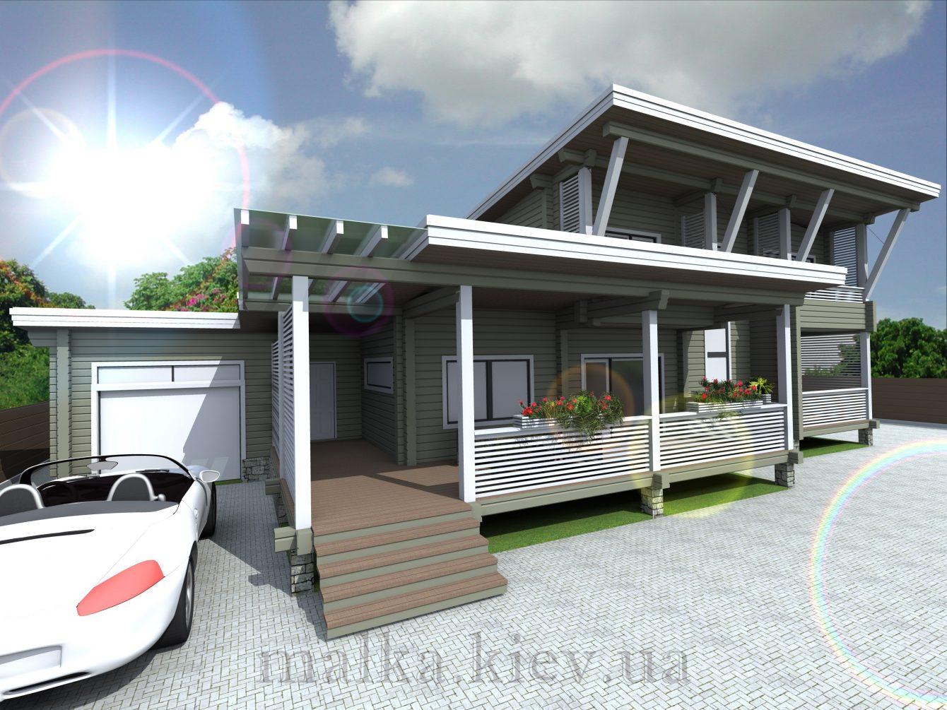 Проект жилого дома №17 (с парилкой)