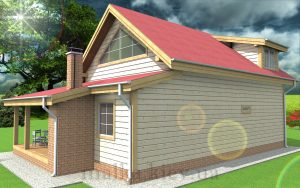 Проект жилого дома №13 (с парилкой)