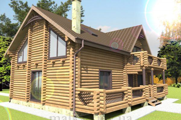 Проект жилого дома №46 (с парилкой)