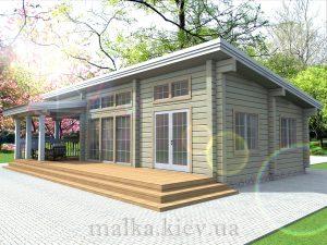 Проект жилого дома №37 (с парилкой)