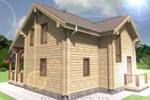 Проект жилого дома №38 (с парилкой)