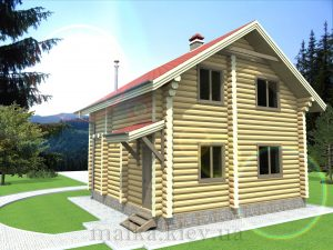 Проект жилого дома №42 (с парилкой)