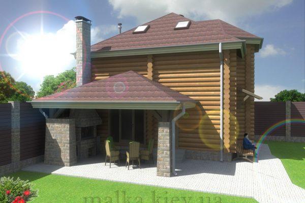 Проект жилого дома №57 (с парилкой)