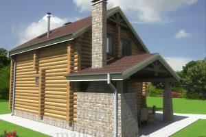 Проект жилого дома №56 (с парилкой)