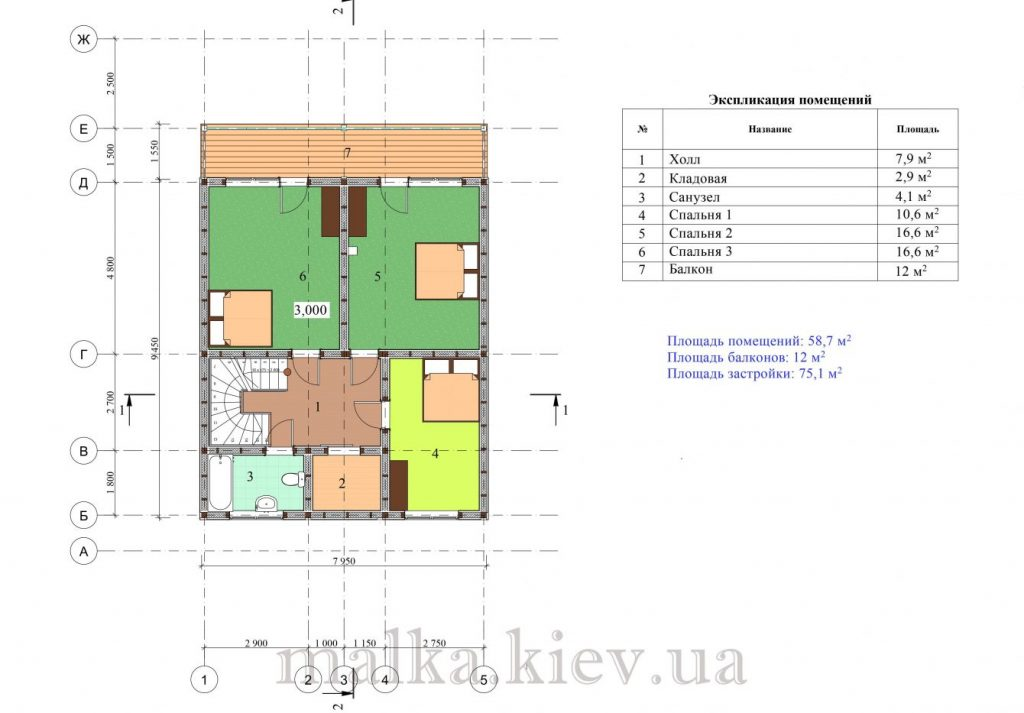 Проект жилого дома №62