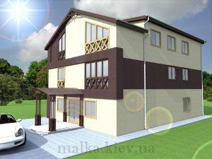 Проект здания гостиницы (хостела) №2