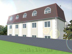 Проект здания гостиницы (хостела) №1